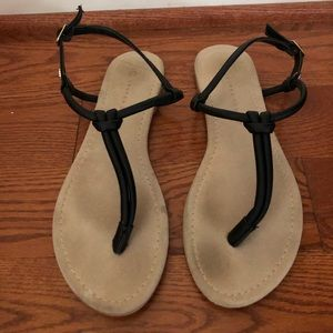 Cute black sandals